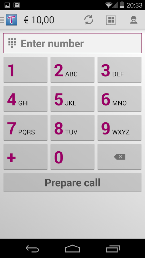 Tariffic - cheap calls - screenshot