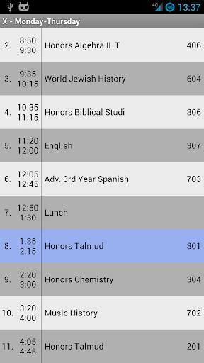 Ramaz High School Schedule