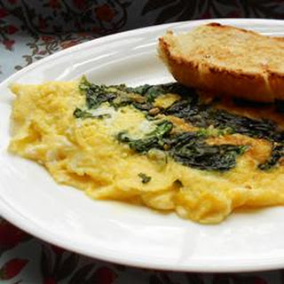 Baby Spinach Omelet.