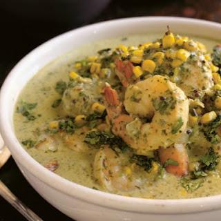 Suvir Saran's Shrimp and Sweet Corn Curry.