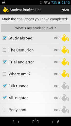 Student Bucket List