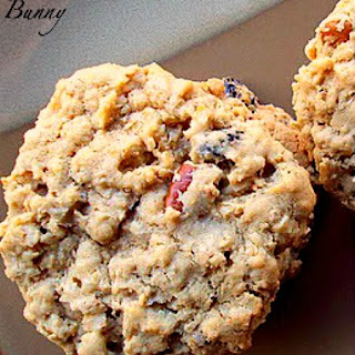 Soft and Chewy Oatmeal Cookies With Raisins and Pecans.