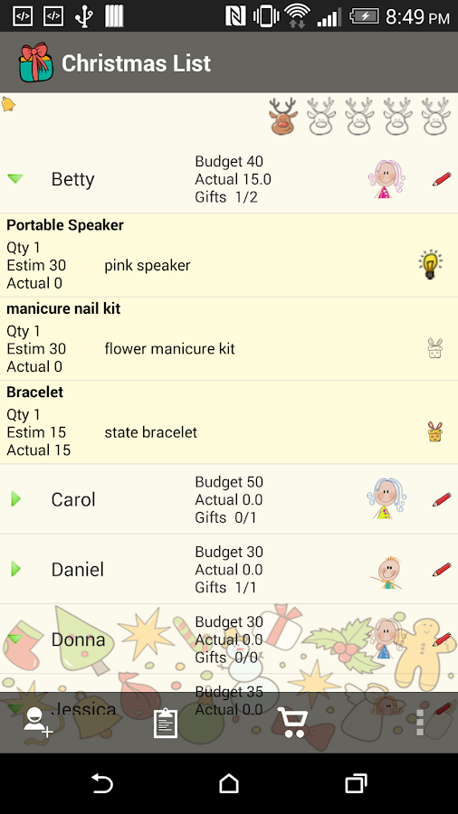 Christmas List Gift Planner- screenshot