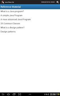 Java Class Lite- screenshot thumbnail