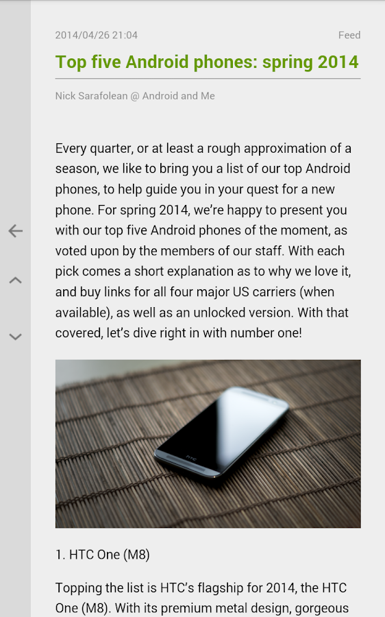 FeedMe (RSS Reader) - screenshot
