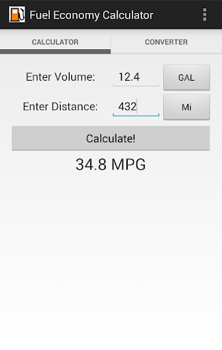 MPG Fuel Economy Calculator