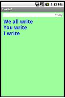 Screenshot of I write!