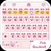 PinkBowknotLove Emoji Keyboard