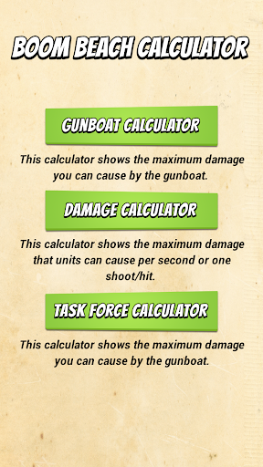 Calculator for Boom Beach