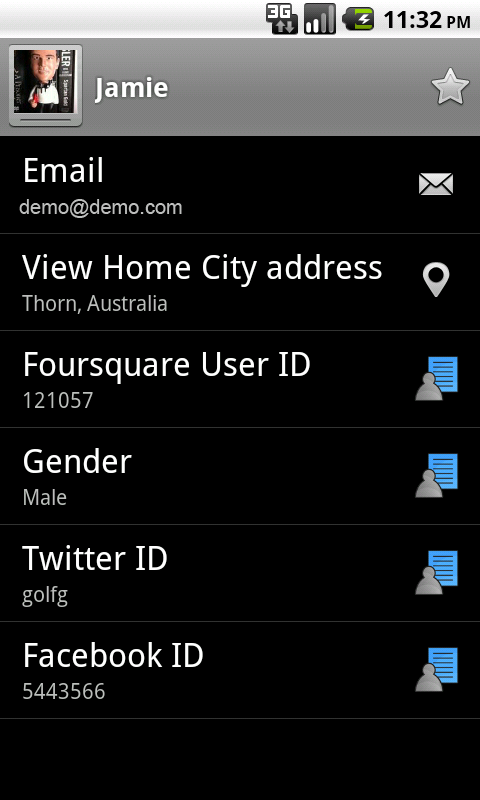 Contacts Sync for Foursquare- screenshot