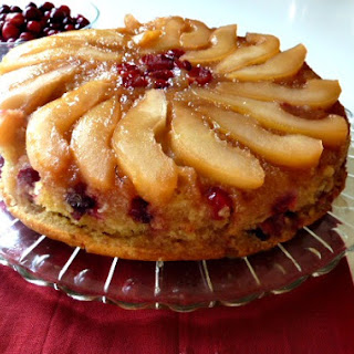 Pear Cranberry Upside-Down Cake