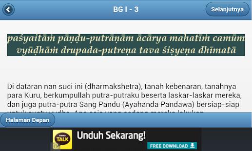 BhagawadGita Bahasa Indonesia