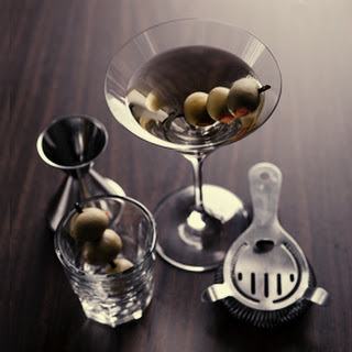 """Dirty Martini""."