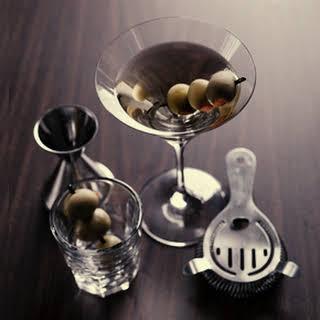 """Dirty Martini""."