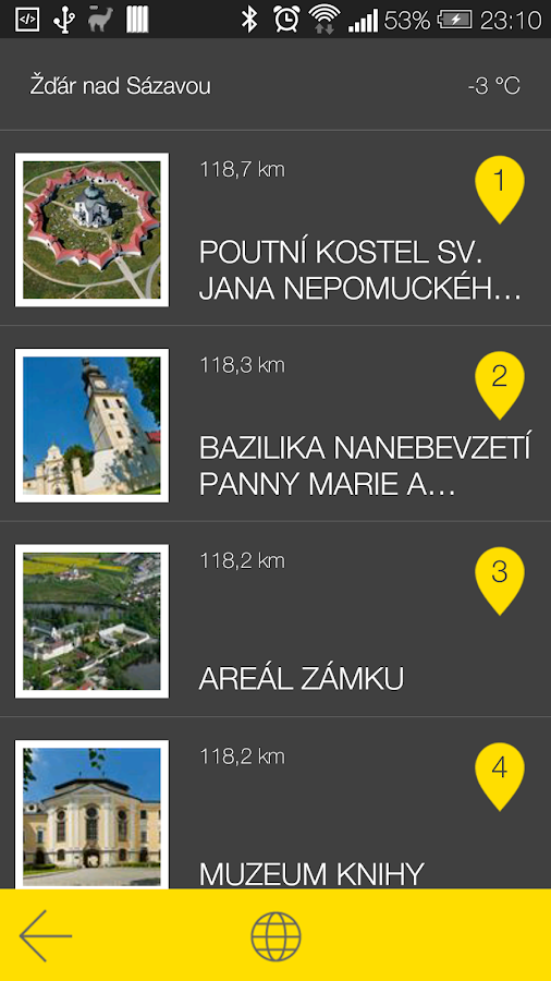 Žďár nad Sázavou - audio tour- screenshot