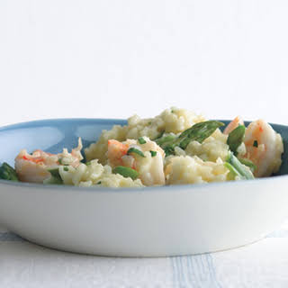 Risotto with Shrimp and Asparagus.