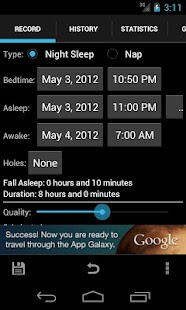 Sleepmeter Free - screenshot thumbnail
