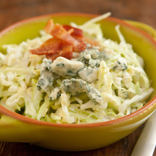Creamy Coleslaw with Bacon and Blue Cheese.