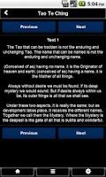 Screenshot of Tao Te Ching FREE