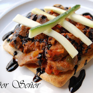 Beef and Tomato on Sunflower Seed Toast