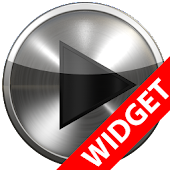 Poweramp widget - BLACK PLATIN
