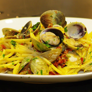 Spicy Clams & Bucatini for Me