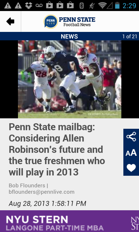 PennLive: Penn State Football - screenshot