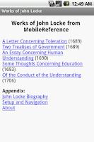 Screenshot of Works of John Locke