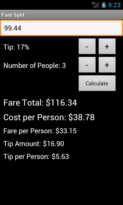 Fare Split- screenshot