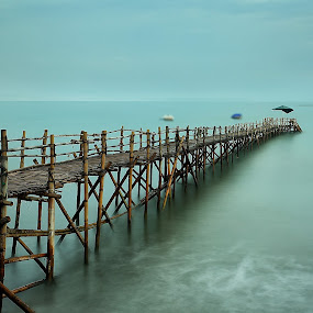 Run to Nowhere by Ina Herliana Koswara - Buildings & Architecture Bridges & Suspended Structures ( water, waterscape, pier, long exposure, beach,  )