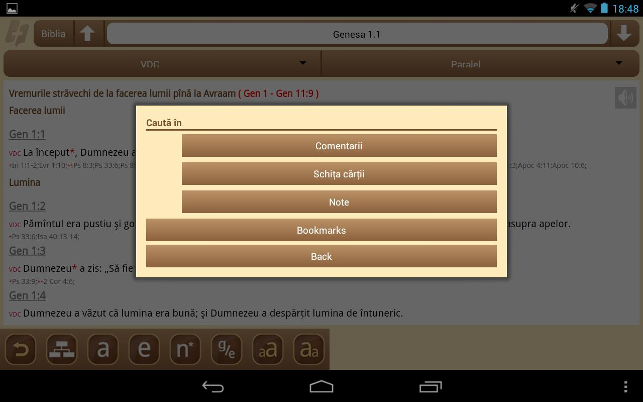 eBiblia.ro - screenshot