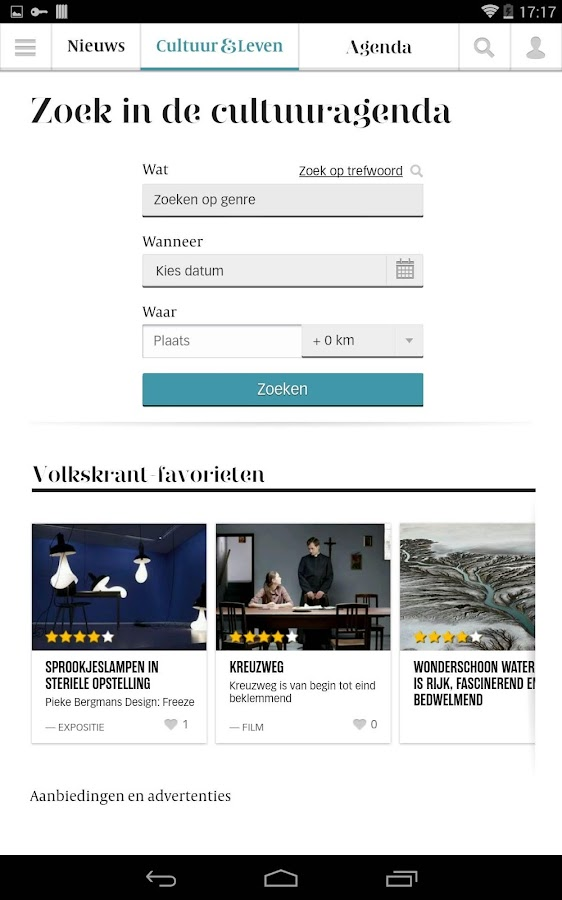 De Volkskrant app- screenshot