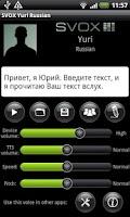 Screenshot of SVOX Russian Yuri Voice