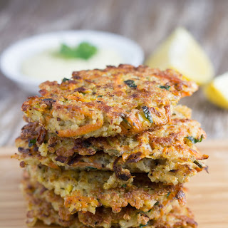 Quinoa Fritters with Healthy Garlic Aioli