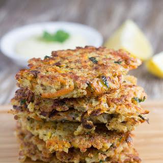 Quinoa Fritters with Healthy Garlic Aioli.