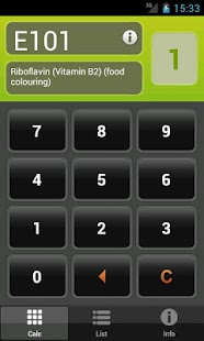 E Numbers Calc: Food Additives- screenshot thumbnail