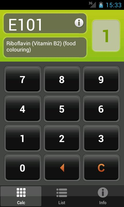 E Numbers Calc: Food Additives- screenshot
