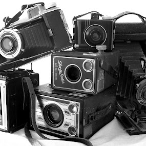 Smile by David W Hubbs - Artistic Objects Antiques ( vintage camera, old cameral, black and white, vintage cameras, old cameras )