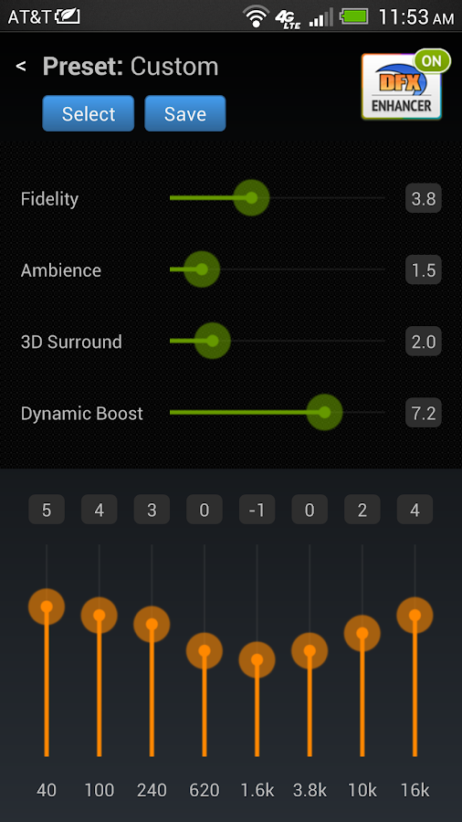 DFX Music Player EQ Free Trial- screenshot