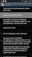 Screenshot of Omar Khayyam Quatrains