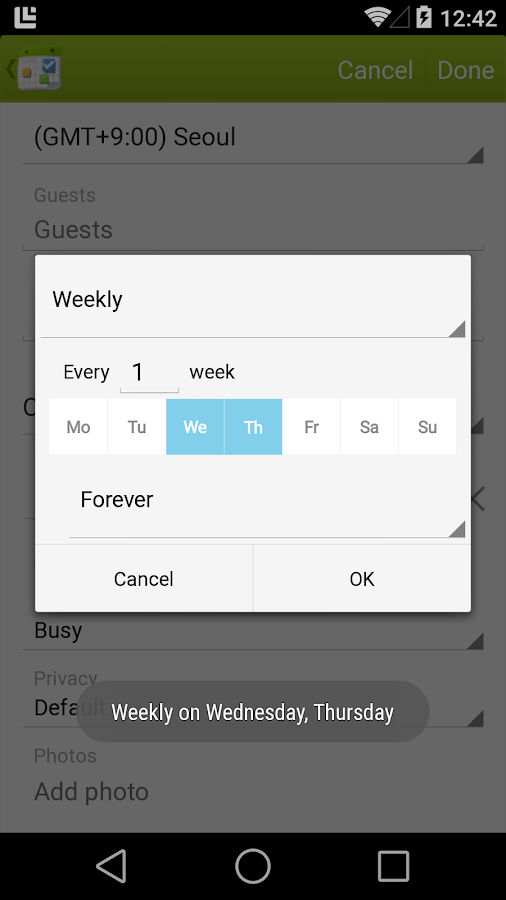 Calendar + Free - screenshot