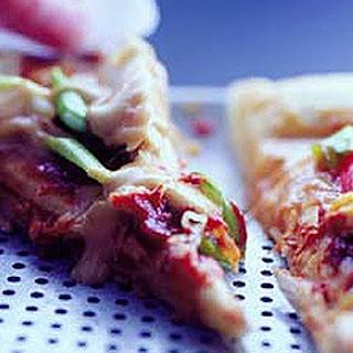 Chicken Satay Pizza.