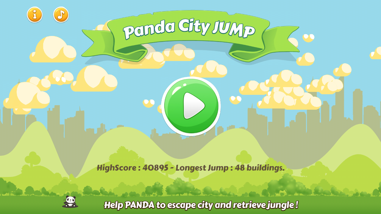 Panda City Jump- screenshot