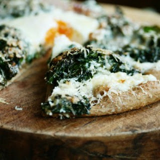 White Pizza with Kale.