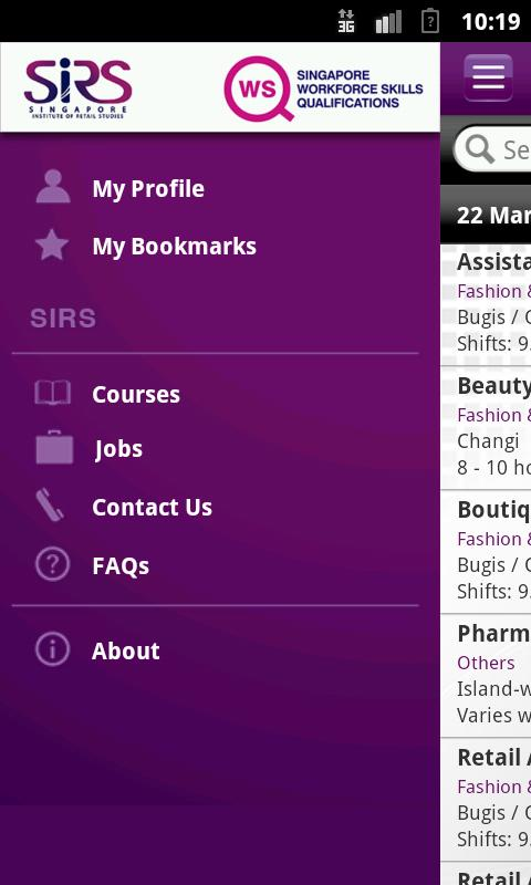 Jobs & Courses @SIRS - screenshot