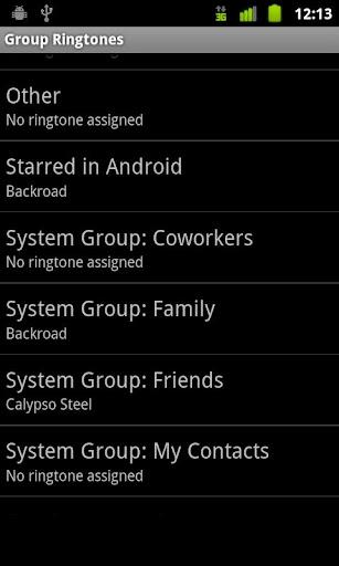Group Ringtones Donate screenshot