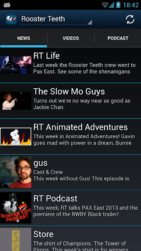 Rooster Teeth Fan App