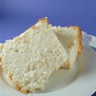 Homemade Angel Food Cake.