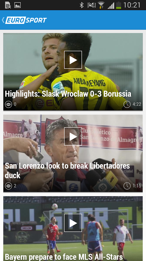 Eurosport.com - screenshot