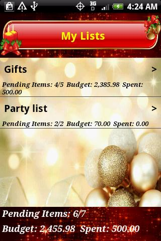 Christmas List - screenshot
